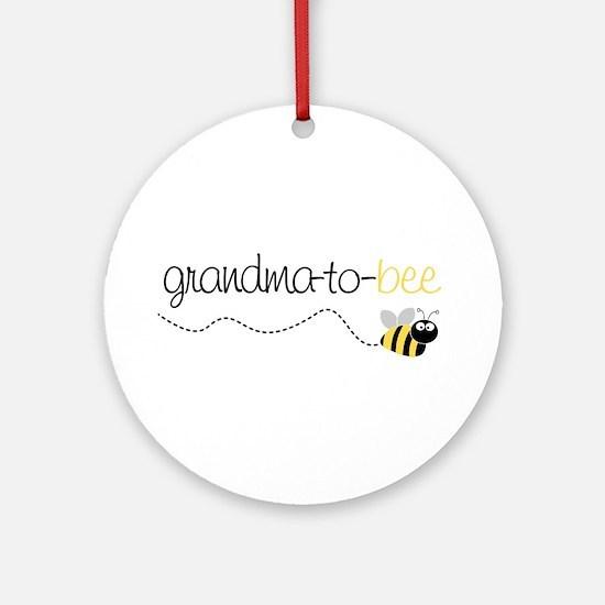 grandma to bee Ornament (Round)