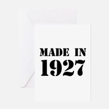 Made in 1927 Greeting Cards