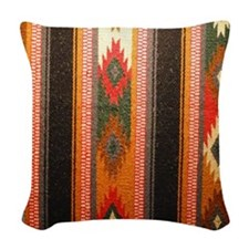 Indian blanket Woven Throw Pillow
