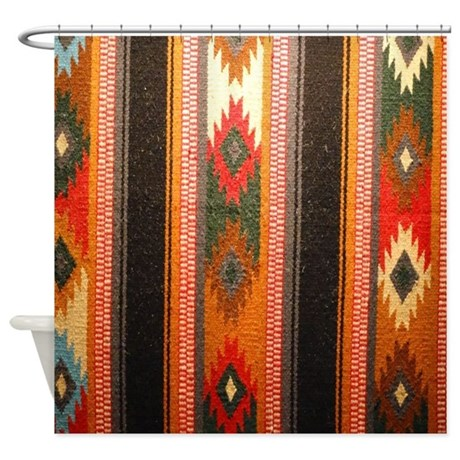 Indian Blanket Shower Curtain By Hopeshappyhome