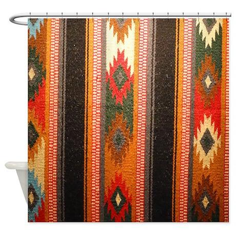 Indian Blanket Shower Curtain