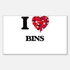 I Love Bins Decal