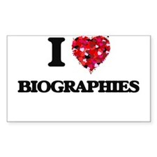 I Love Biographies Decal