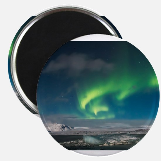 Aurora over Iceland Magnets