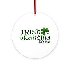 irish grandma to be Ornament (Round)