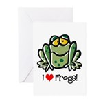 I Love Frogs Greeting Cards (Pk of 10)