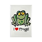 I Love Frogs Rectangle Magnet (100 pack)