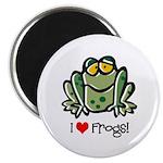 I Love Frogs Magnet