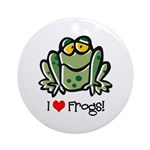 I Love Frogs Ornament (Round)