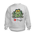 I Love Frogs Kids Sweatshirt