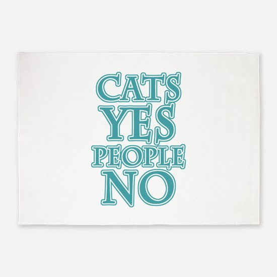 Antisocial Cat Lover 5'x7'Area Rug