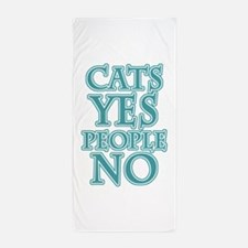 Antisocial Cat Lover Beach Towel
