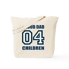 Proud Dad 4 Kids Tote Bag