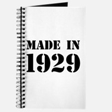 Made in 1929 Journal
