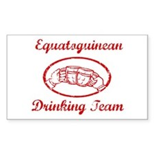 Equatoguinean Drinking Team Rectangle Decal