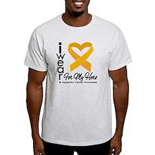 Appendix Cancer Heart T-Shirt