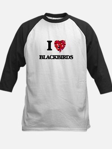 I Love Blackbirds Baseball Jersey