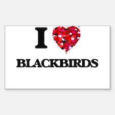 I Love Blackbirds Decal