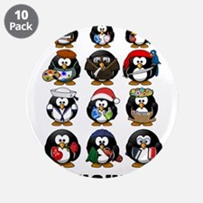 """Penguins 3.5"""" Button (10 pack)"""