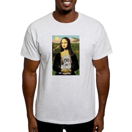 Mona Lisa (new) & Shih Tzu Ash Grey T-Shirt