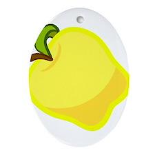 Golden Apple Ornament (Oval)