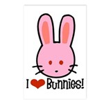 I Love Bunnies Postcards (Package of 8)