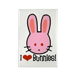 I Love Bunnies Rectangle Magnet (10 pack)