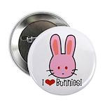 I Love Bunnies Button