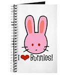 I Love Bunnies Journal
