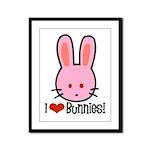 I Love Bunnies Framed Panel Print