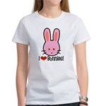I Love Bunnies Women's T-Shirt