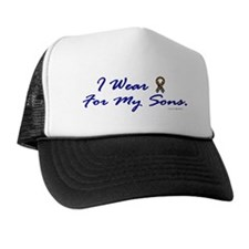 For My Sons (Puzzle Ribbon) Trucker Hat