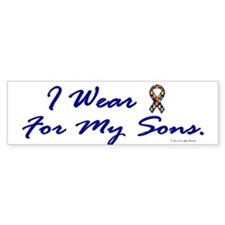 For My Sons (Puzzle Ribbon) Bumper Bumper Sticker