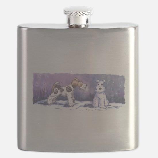 Wire Fox Winter Flask