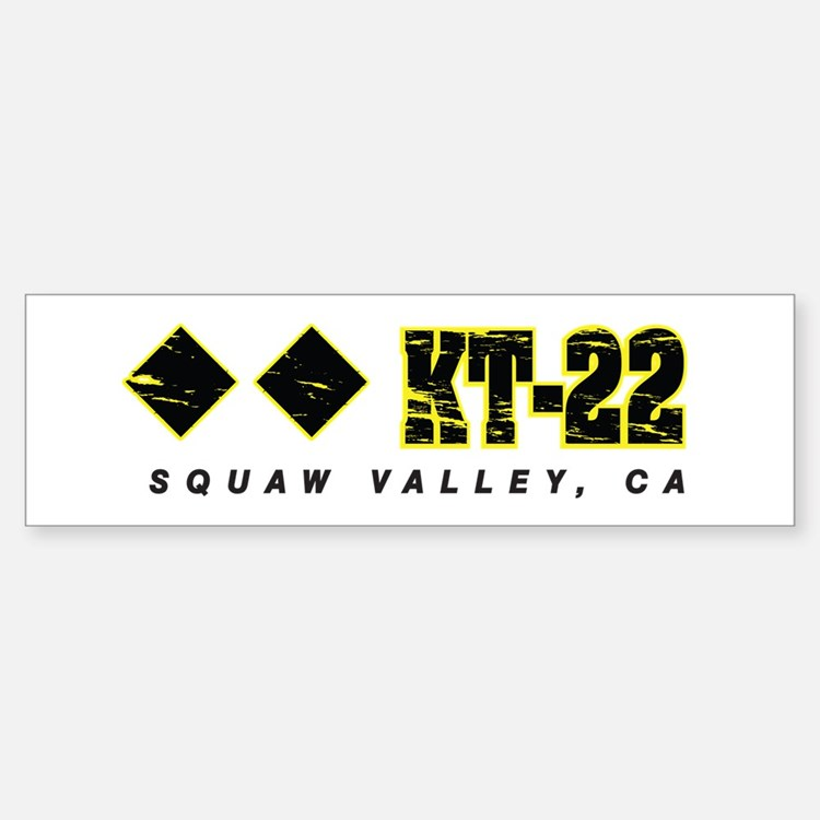 Ski Squaw Valley, KT-22 Bumper Bumper Bumper Sticker