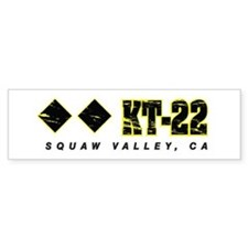 Ski Squaw Valley, KT-22 Bumper Bumper Sticker