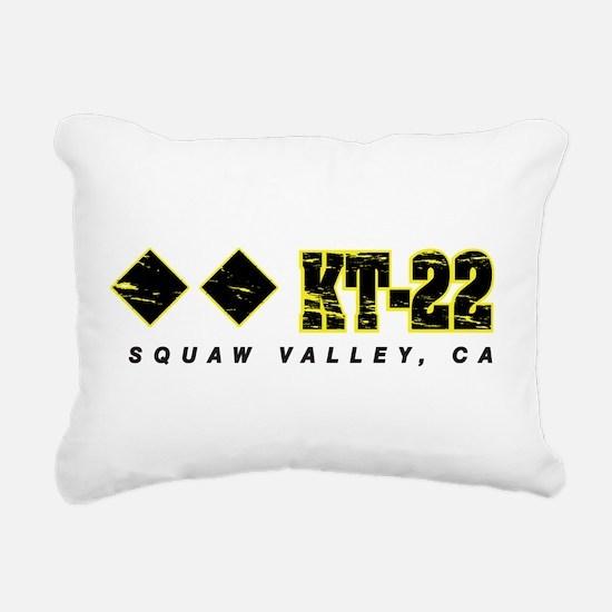 Ski Squaw Valley, KT-22 Rectangular Canvas Pillow