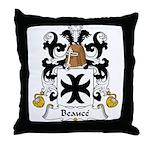 Beauce Family Crest Throw Pillow