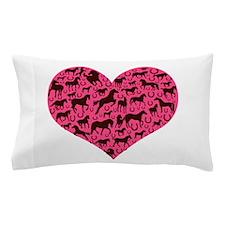Horse Heart Art Brown Pink Pillow Case