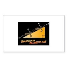 Snakes/Inclined Plane Rectangular Decal