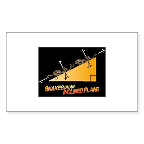 Snakes/Inclined Plane Rectangular Sticker