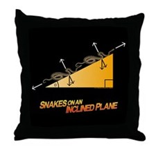 Snakes/Inclined Plane Throw Pillow