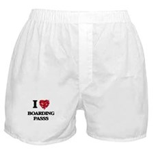 I Love Boarding Passs Boxer Shorts