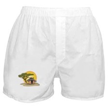 African Hut In Sunset Boxer Shorts