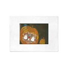 Christophers Pumpkin Snowmen 5'x7'Area Rug
