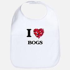 I Love Bogs Bib