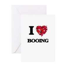I Love Booing Greeting Cards