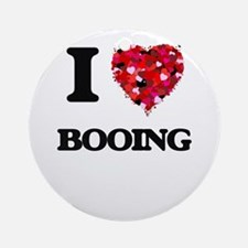 I Love Booing Ornament (Round)