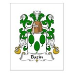 Bazin Family Crest Small Poster