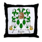 Bazin Family Crest Throw Pillow